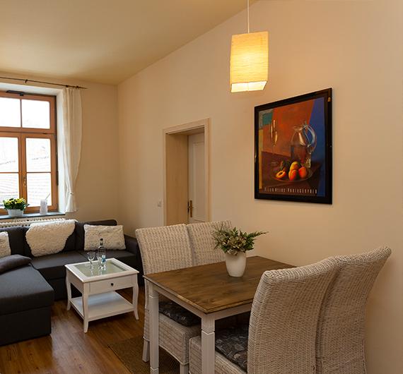 Sitzecke und Wohnbereich