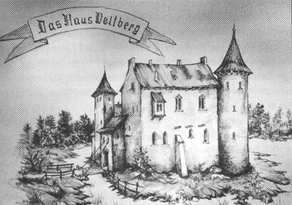 Schwarz-Weiß Bild der alten Burg